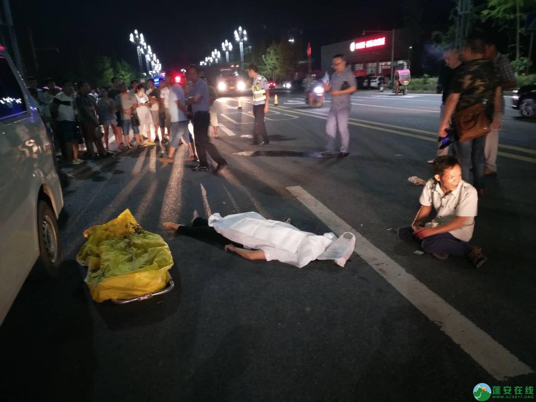 蓬安凤凰大道一交通事故,一女士不幸当场死亡,交警深夜加班加点搜寻逃逸车主 - 第1张  | 蓬安在线