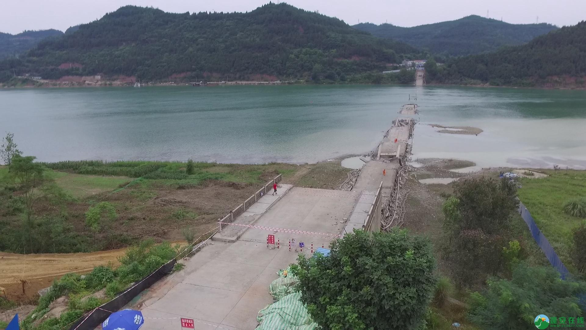 蓬安嘉陵江一桥成功爆破拆除 - 第12张  | 蓬安在线