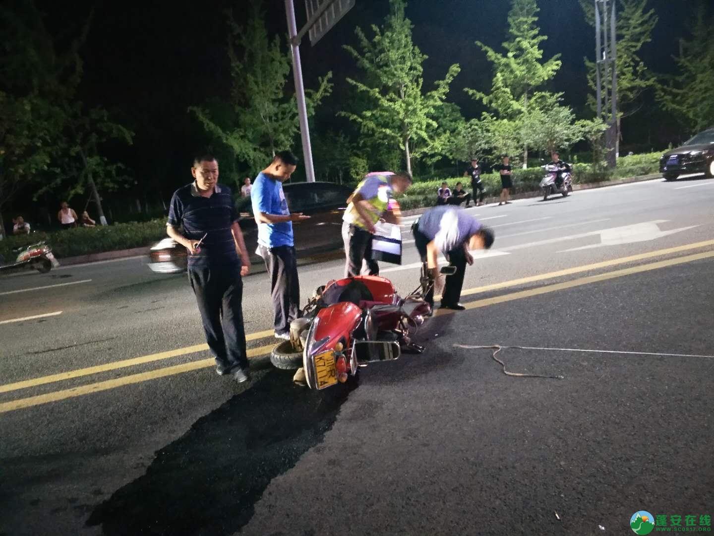 蓬安凤凰大道一交通事故,一女士不幸当场死亡,交警深夜加班加点搜寻逃逸车主 - 第3张  | 蓬安在线