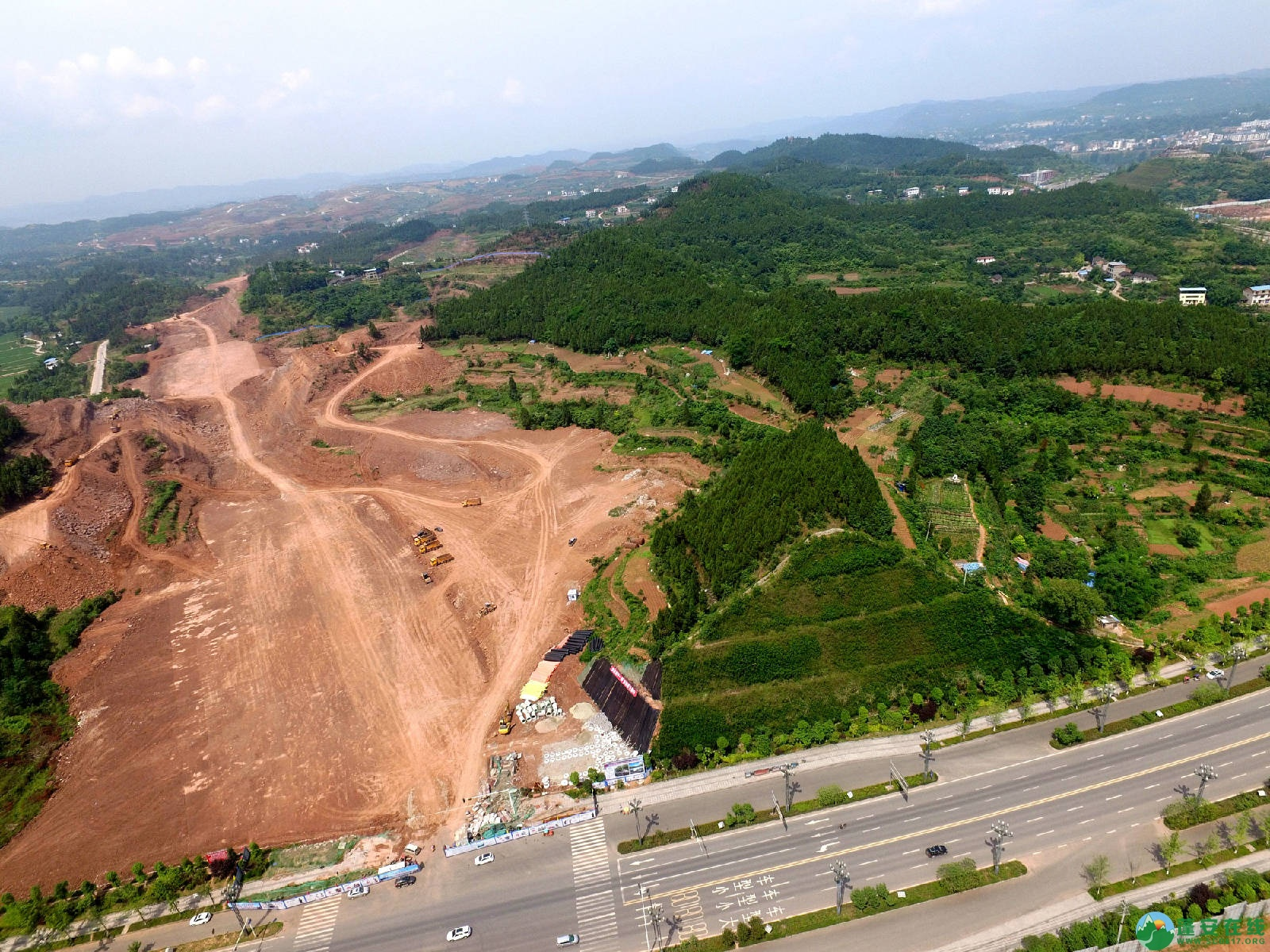 蓬安县旅游环线凤凰大道入口道路最新进展(2018年6月2日) - 第3张  | 蓬安在线
