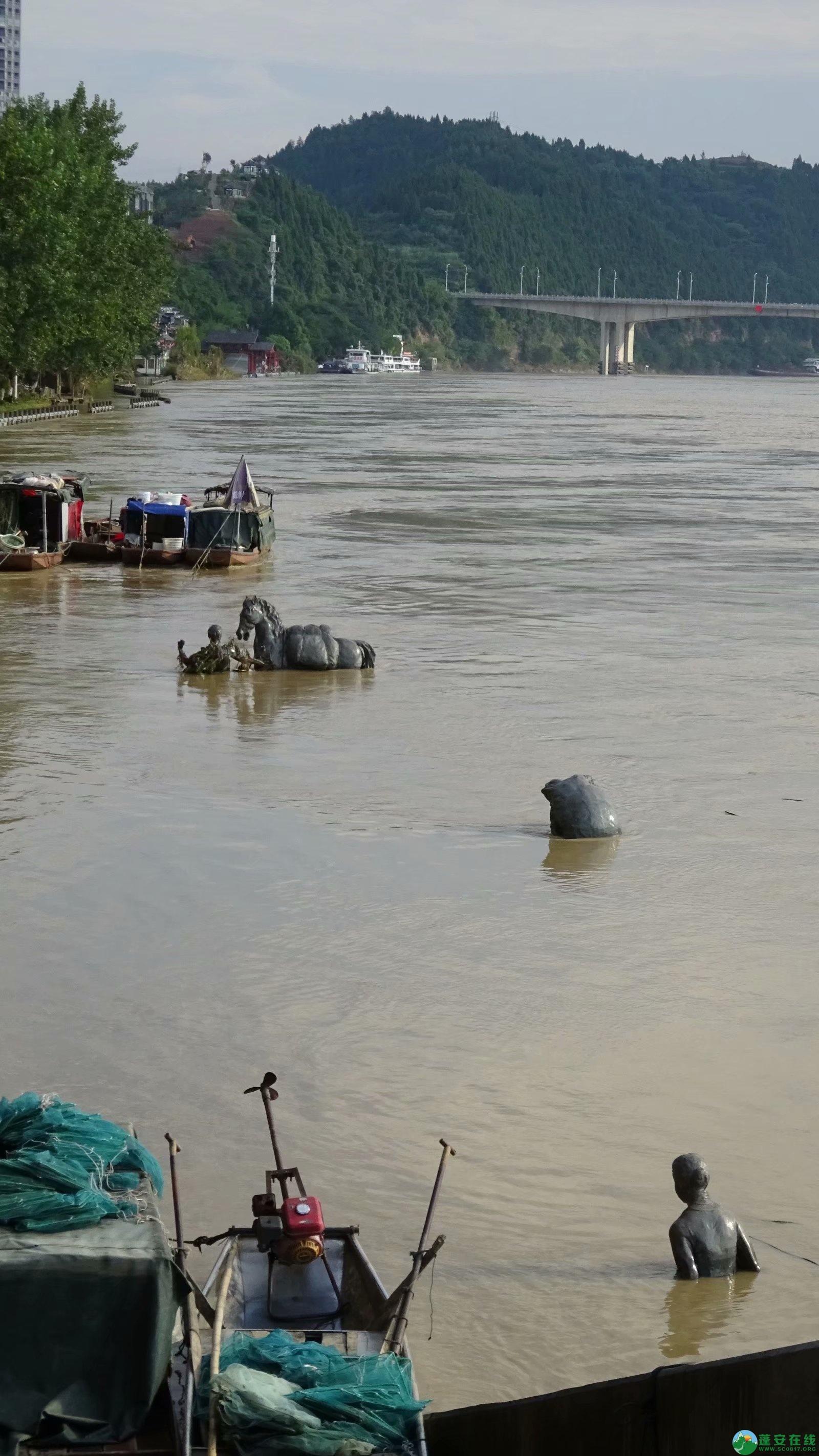 洪水退去后的蓬安县嘉陵江 - 第2张  | 蓬安在线