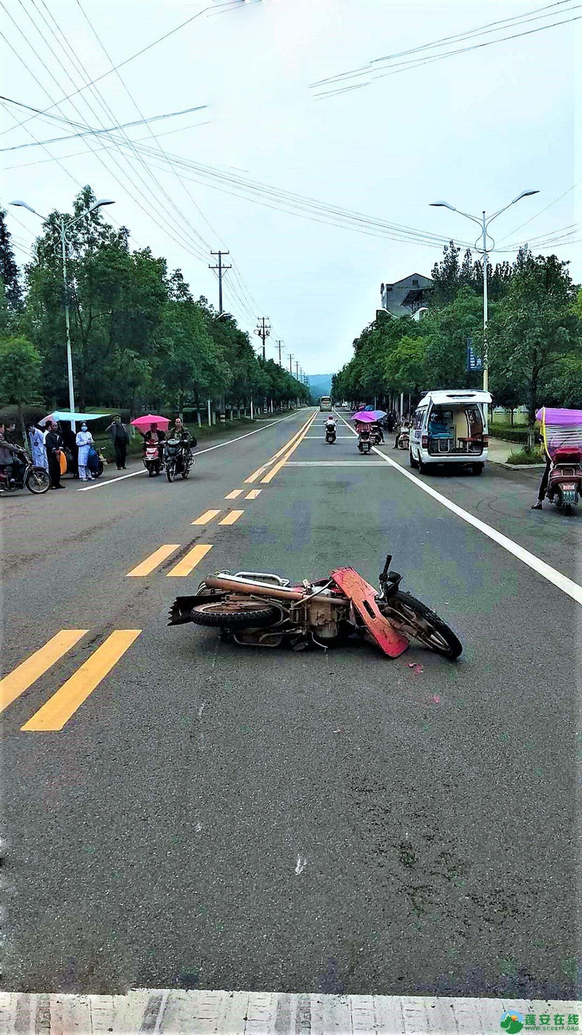 蓬安县河舒工业园区桂花路发生两摩托车相撞 - 第4张  | 蓬安在线