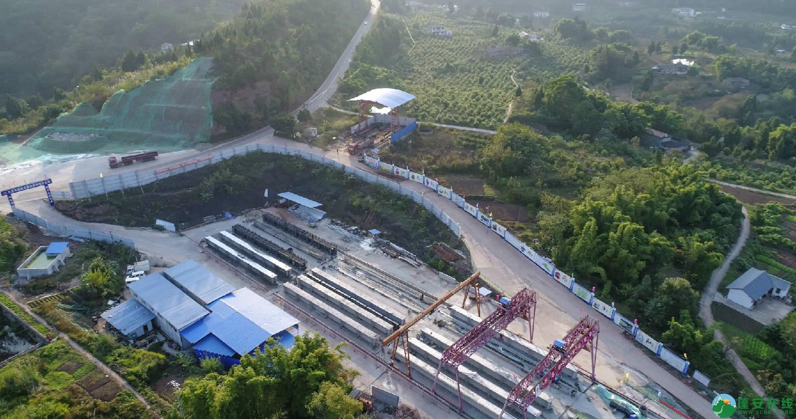 凤凰大桥西延线工程进展(2018年11月3日) - 第1张  | 蓬安在线