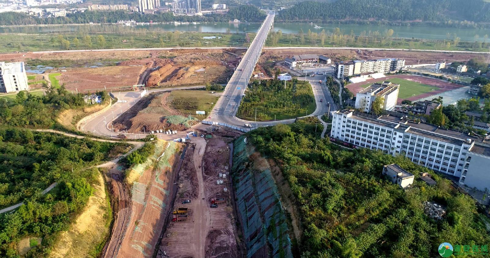 凤凰大桥西延线工程进展(2018年11月3日) - 第10张  | 蓬安在线