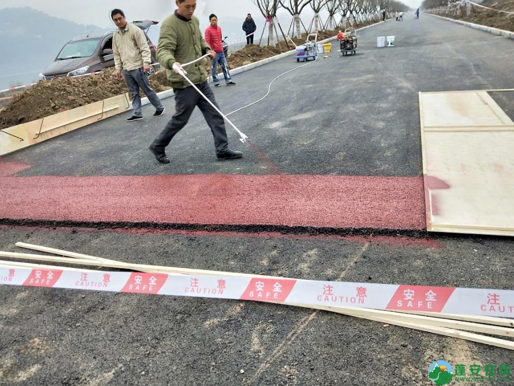 蓬安锦屏湿地公园漫步跑道修建进度(2019年1月13日) - 第1张  | 蓬安在线
