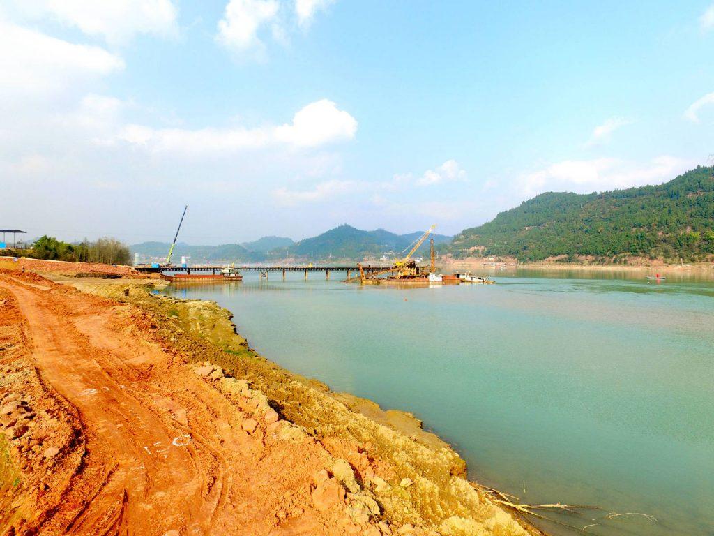 蓬安嘉陵江一桥施工进展 - 第2张  | 蓬安在线