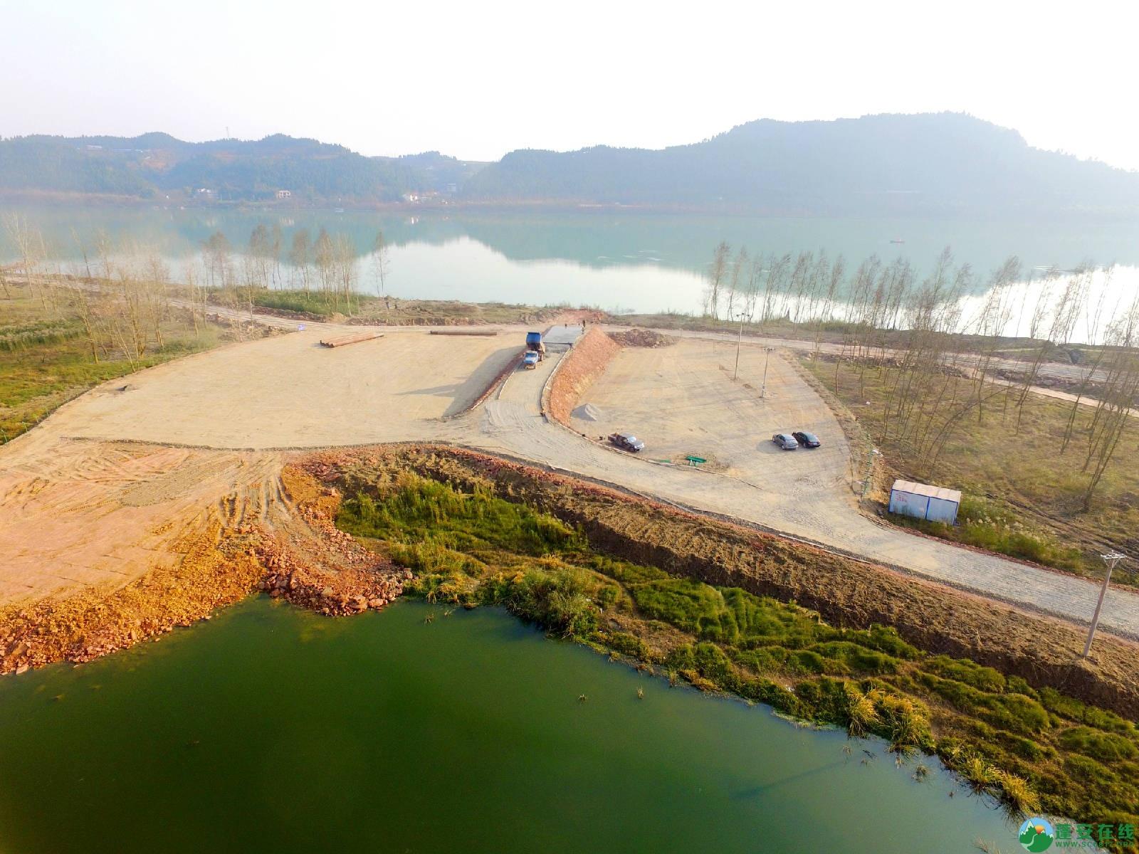 顺蓬营一级公路蓬安锦屏段正在施工嘉陵江三桥施工便道 - 第1张  | 蓬安在线