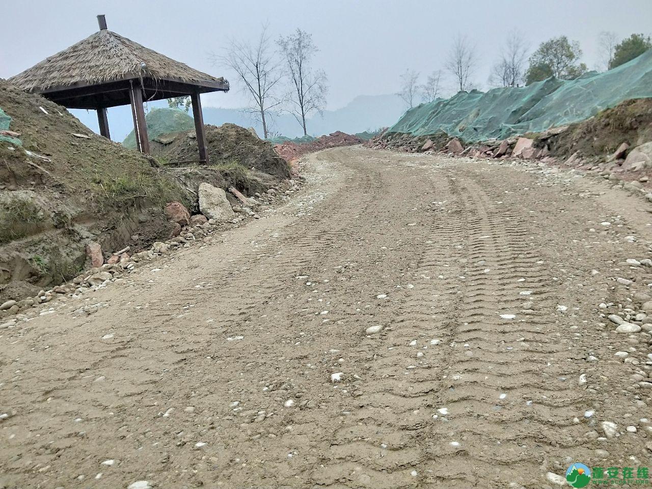 蓬安锦屏湿地公园漫步跑道修建进度(2019年1月13日) - 第9张  | 蓬安在线