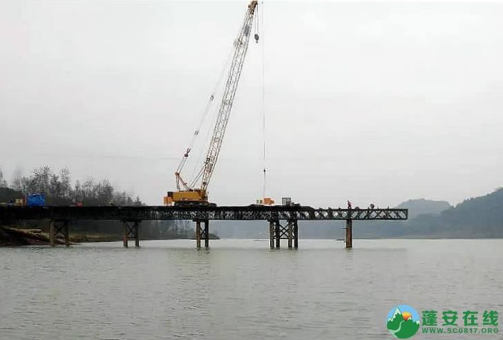 蓬安嘉陵江一桥施工进展 - 第1张  | 蓬安在线