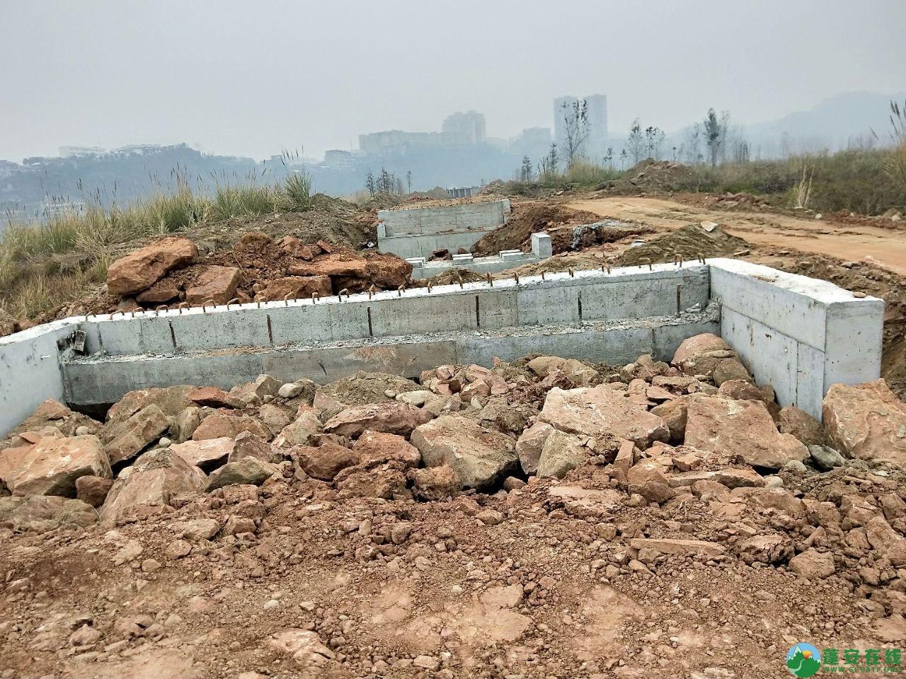 蓬安锦屏湿地公园漫步跑道修建进度(2019年1月13日) - 第4张  | 蓬安在线