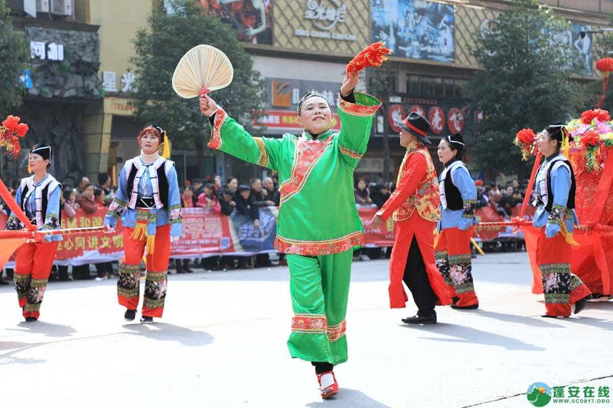 蓬安县2019年迎新春民间民俗街头文艺巡演精彩片段 - 第31张  | 蓬安在线