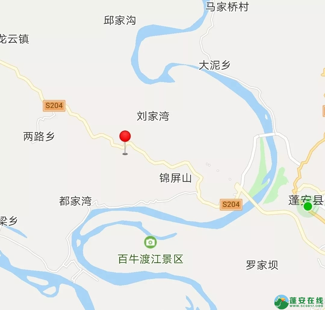 2019年3月17日蓬安S204线锦屏镇张家沟附近,一辆大货车翻至崖坎下 - 第1张  | 蓬安在线