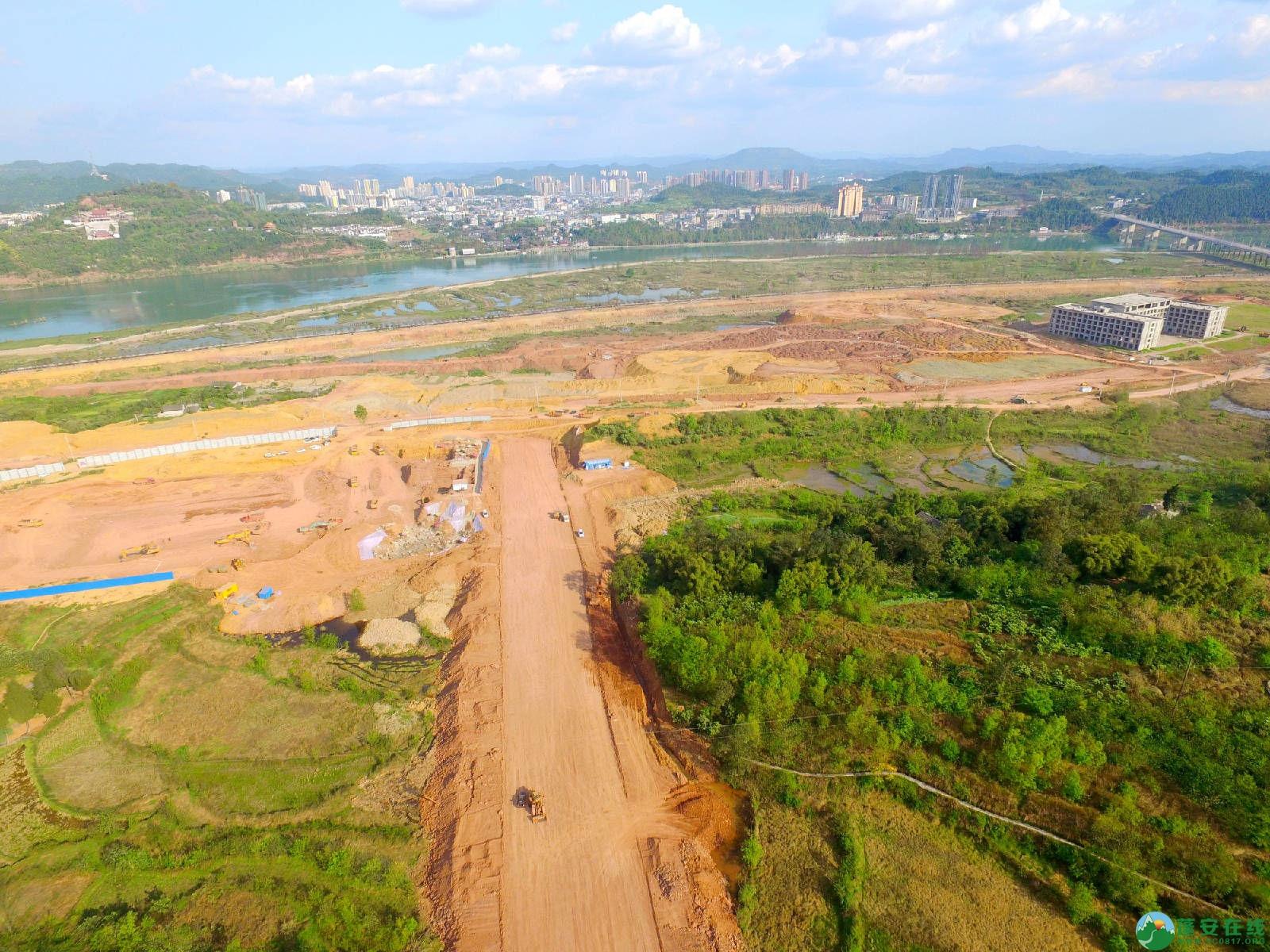 蓬安县锦屏镇湿地公园跑道、纵一道路、干一道工程进度(2018年4月6日) - 第8张  | 蓬安在线