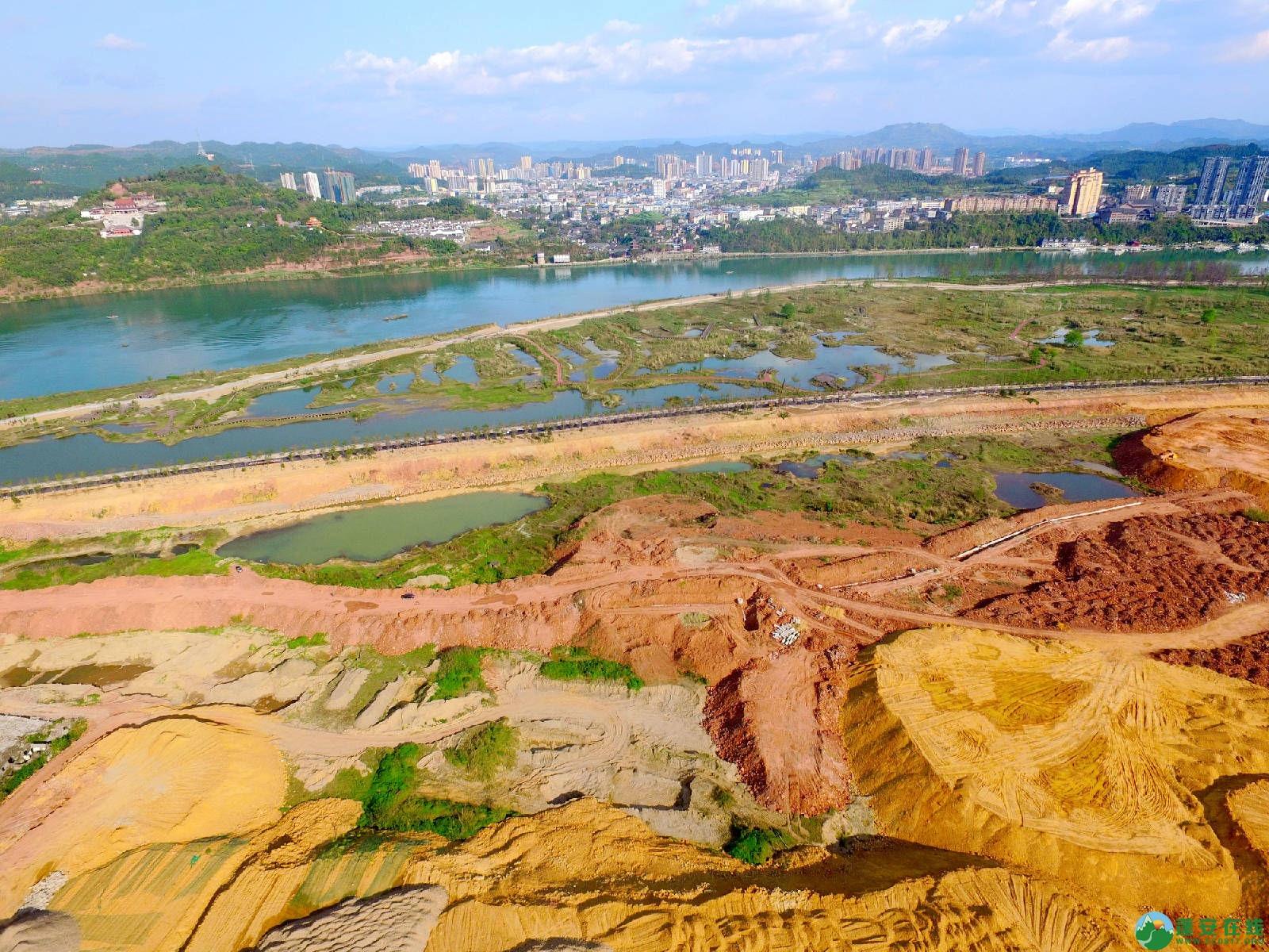 蓬安县锦屏镇湿地公园跑道、纵一道路、干一道工程进度(2018年4月6日) - 第9张  | 蓬安在线
