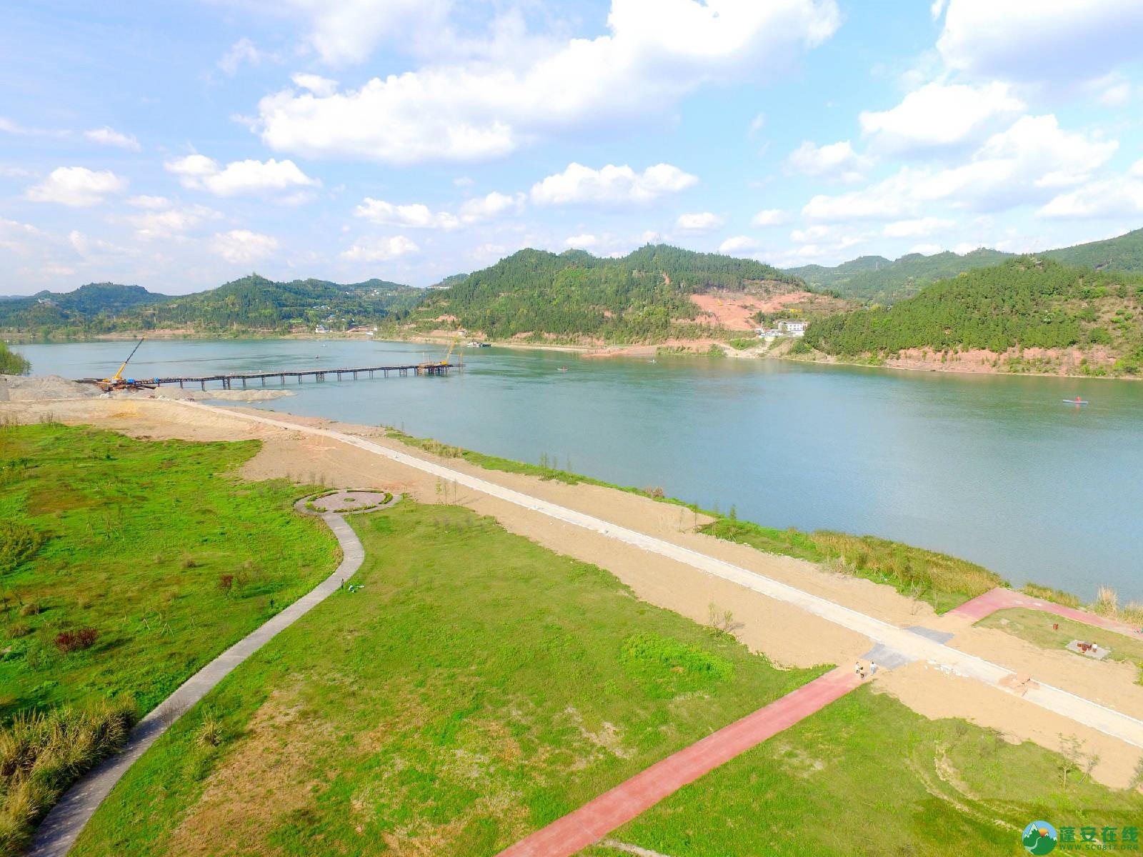 蓬安县锦屏镇湿地公园跑道、纵一道路、干一道工程进度(2018年4月6日) - 第2张  | 蓬安在线