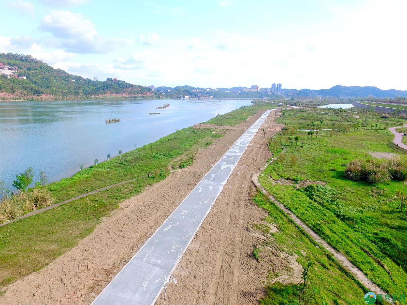 蓬安县锦屏镇湿地公园跑道、纵一道路、干一道工程进度(2018年4月6日) - 第5张  | 蓬安在线