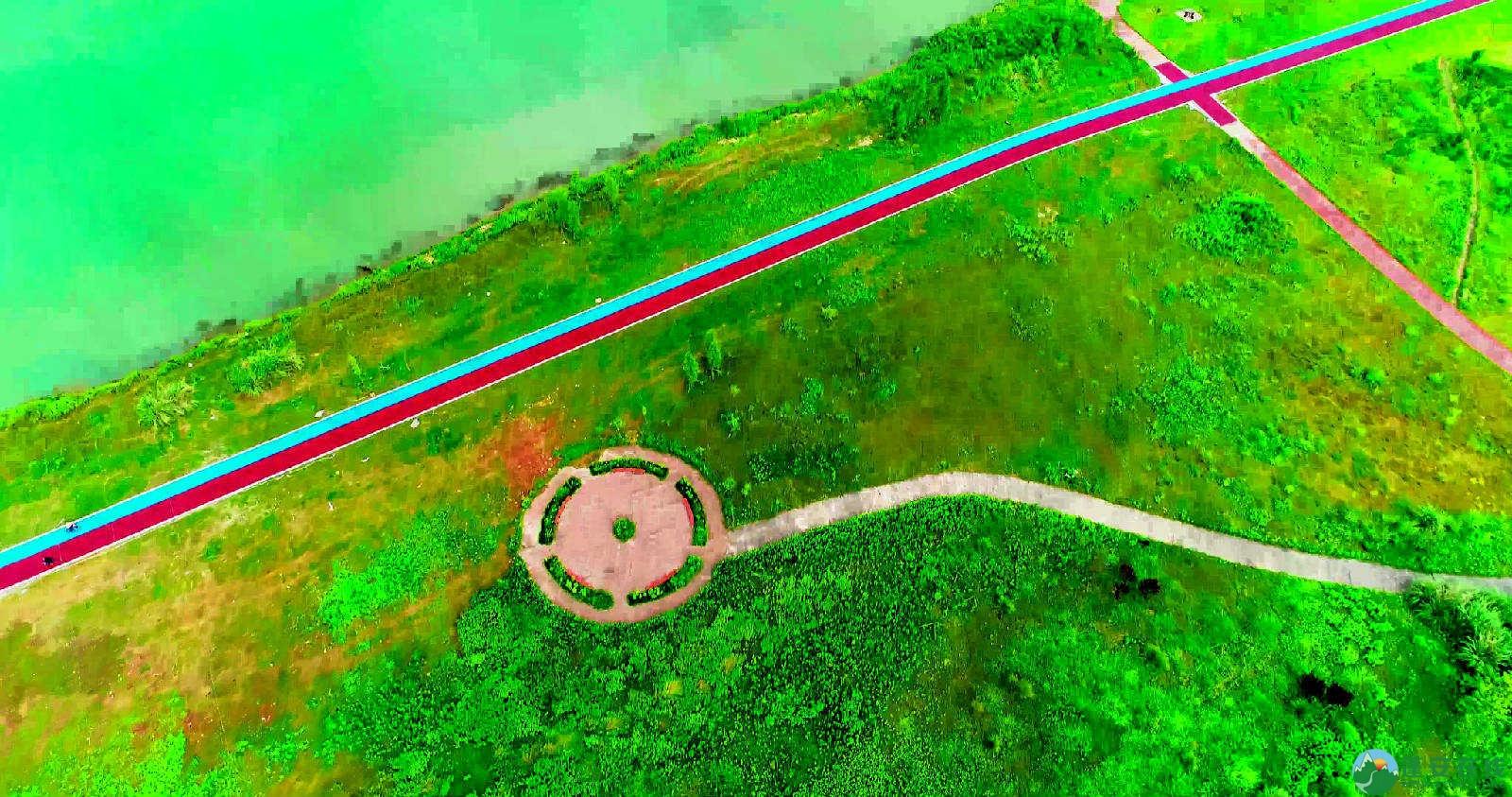 蓬安锦屏湿地公园双色跑道 - 第2张  | 蓬安在线
