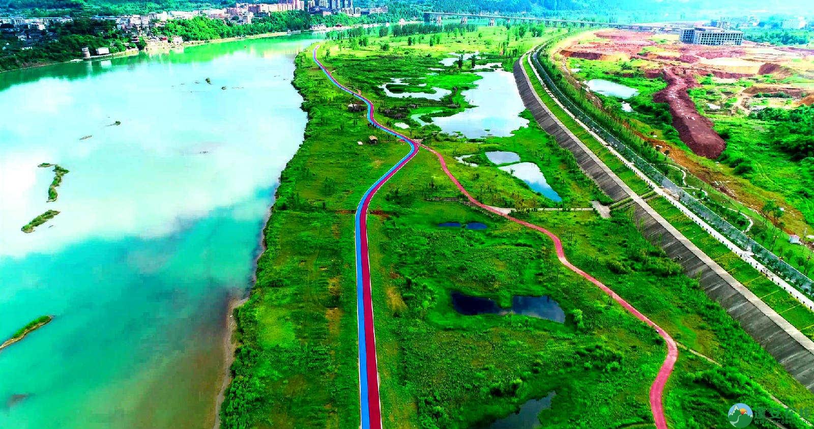 蓬安锦屏湿地公园双色跑道 - 第4张  | 蓬安在线