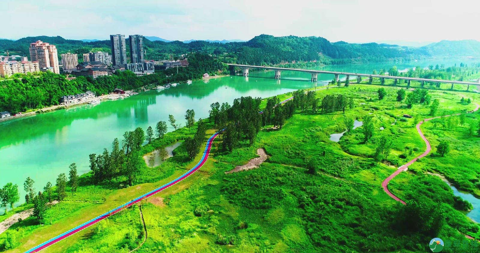 蓬安锦屏湿地公园双色跑道 - 第6张  | 蓬安在线