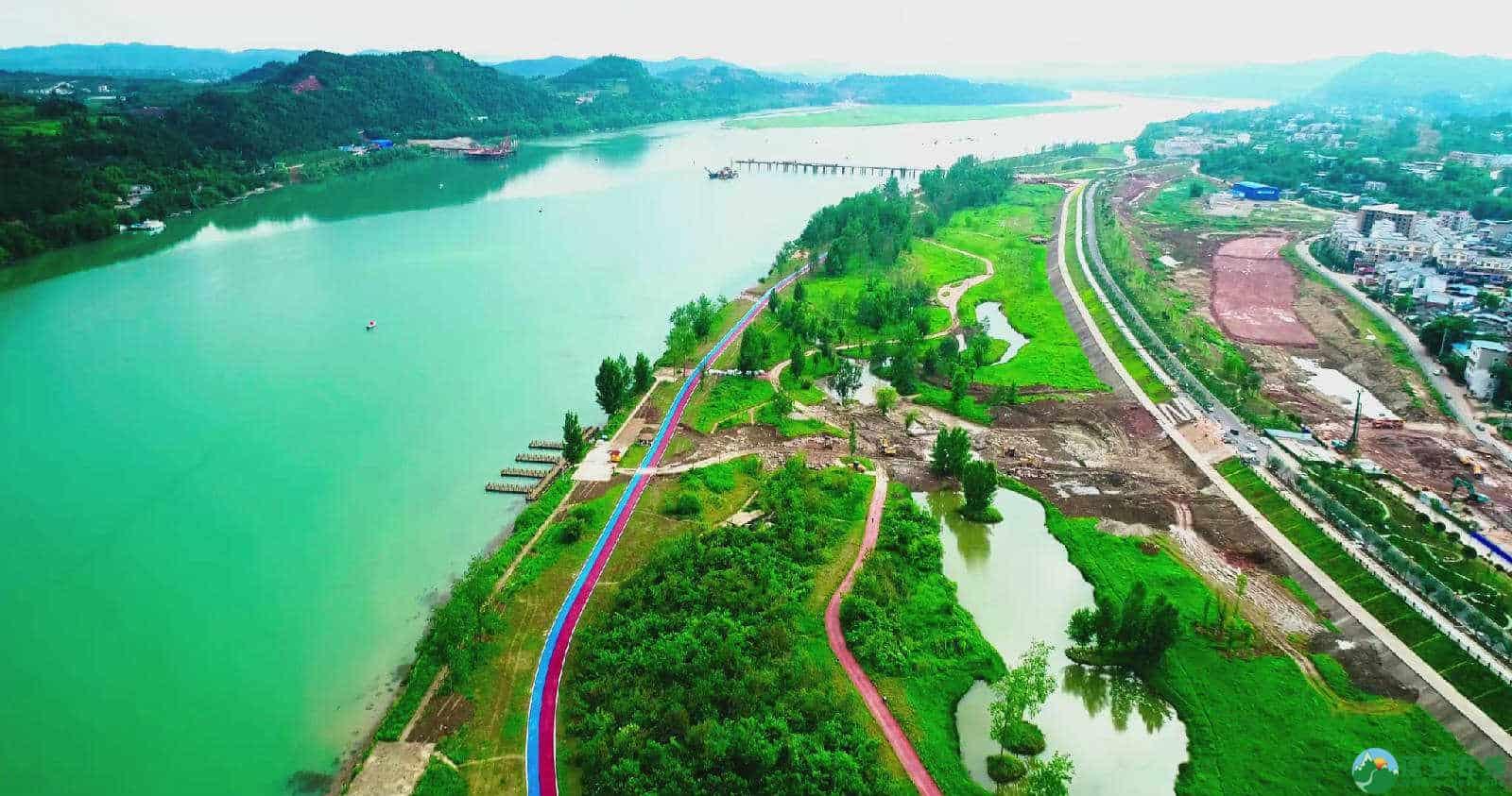 蓬安锦屏湿地公园双色跑道 - 第9张  | 蓬安在线