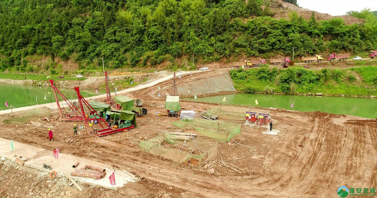 蓬安嘉陵江一桥修建进(2019年5月11日) - 第1张  | 蓬安在线
