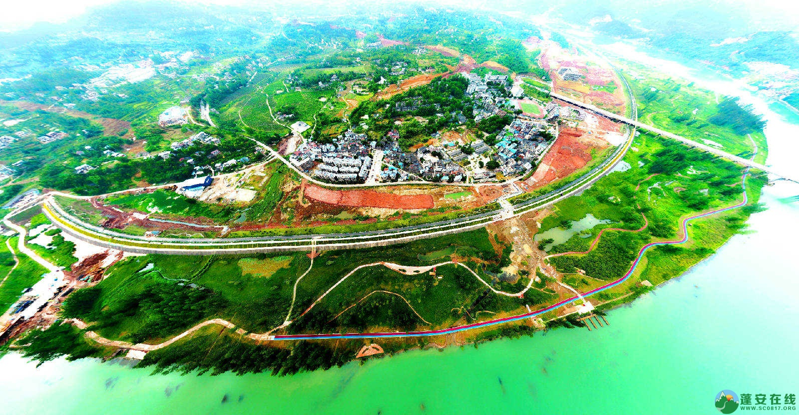 蓬安锦屏湿地公园双色跑道 - 第11张  | 蓬安在线