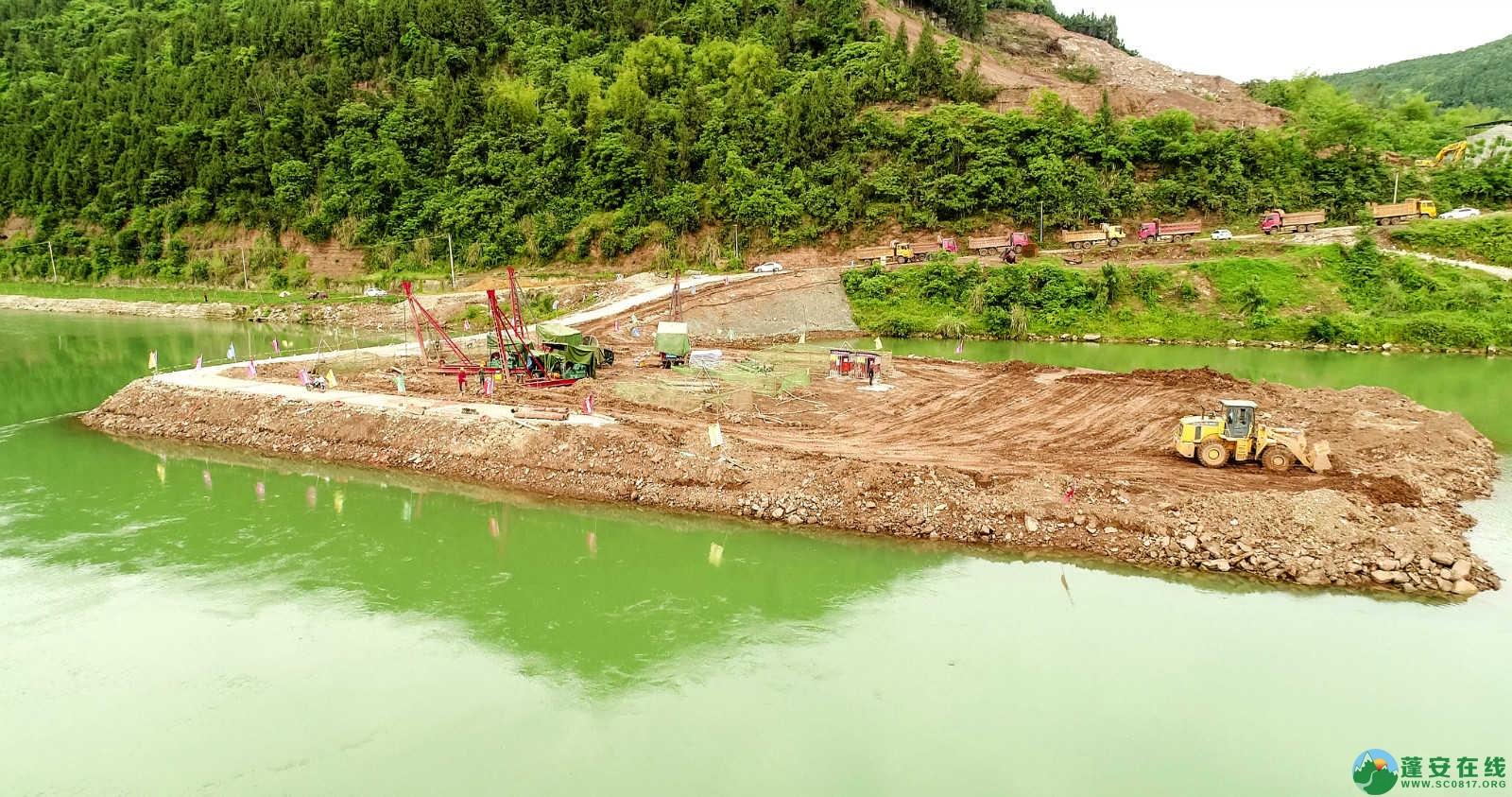 蓬安嘉陵江一桥修建进(2019年5月11日) - 第2张  | 蓬安在线