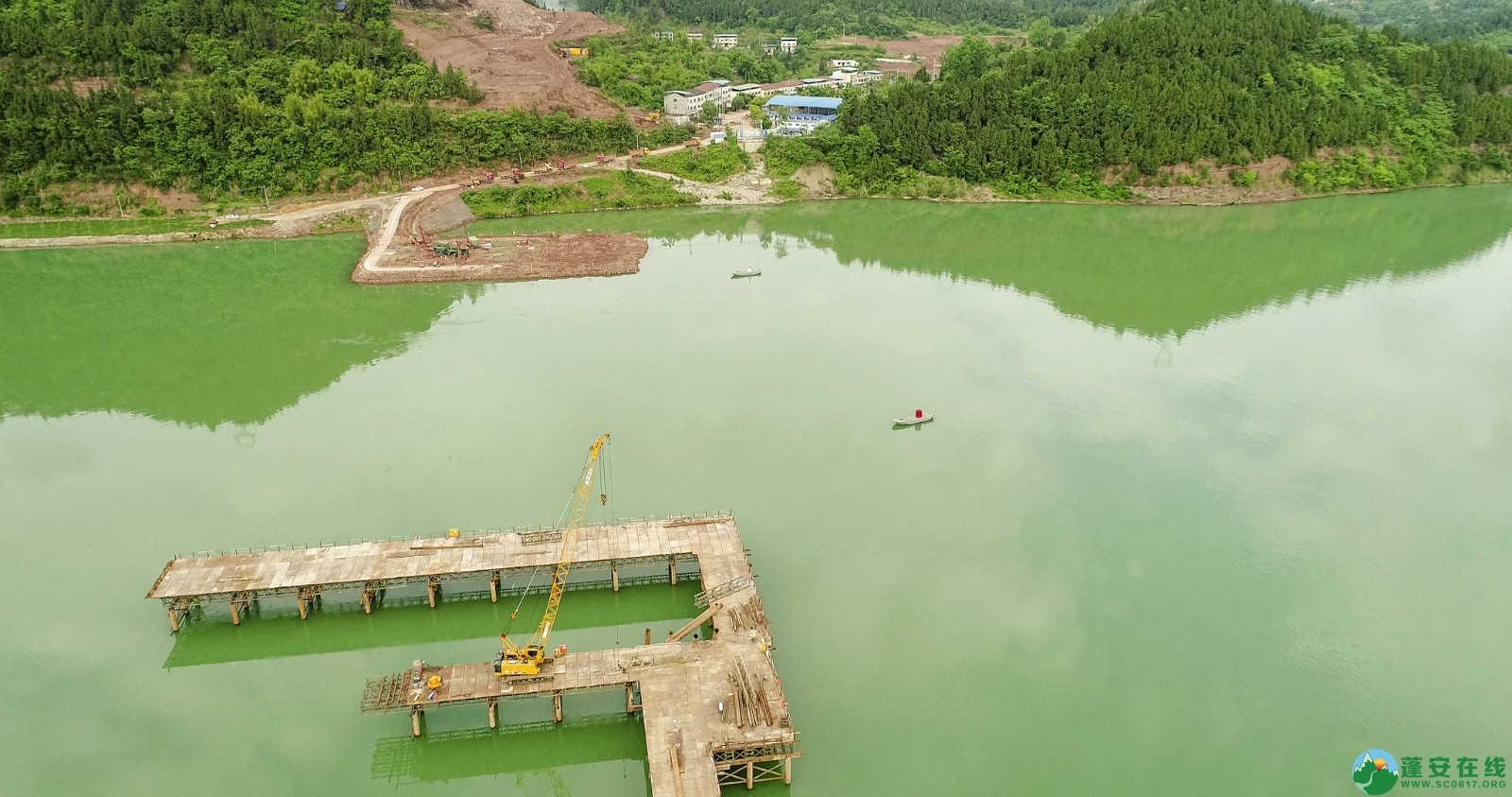 蓬安嘉陵江一桥修建进(2019年5月11日) - 第11张  | 蓬安在线