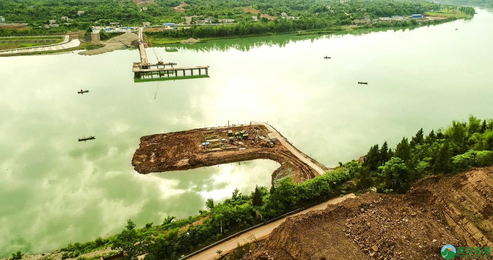 蓬安嘉陵江一桥修建进(2019年5月11日) - 第18张  | 蓬安在线