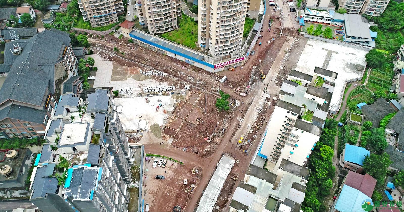 蓬安县嘉陵西路改建工程进展(2019-06-16) - 第1张  | 蓬安在线