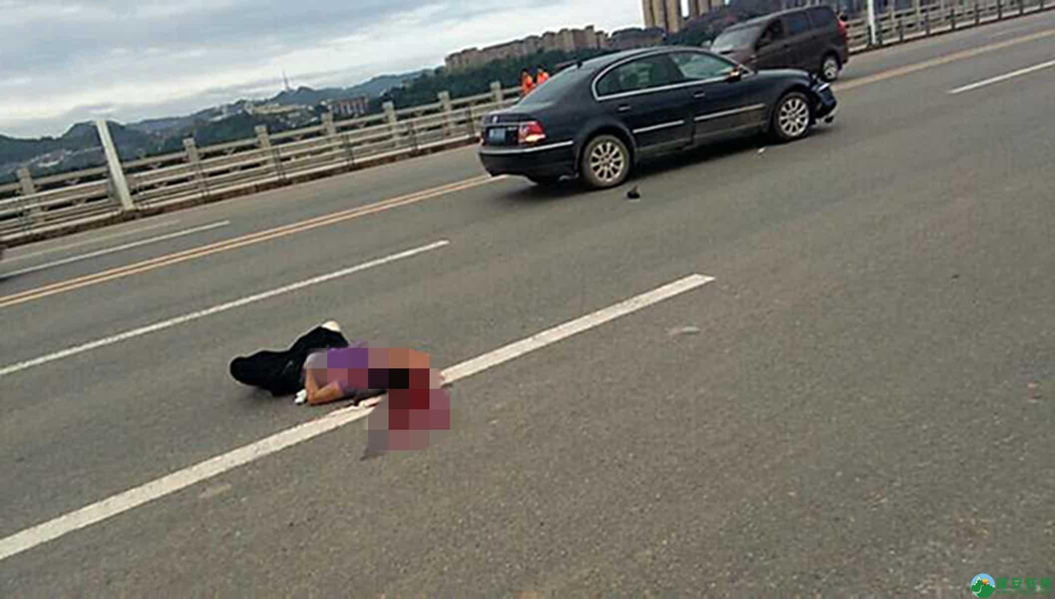 蓬安凤凰大桥突发车祸,一位女环卫工人被撞身亡 - 第1张  | 蓬安在线