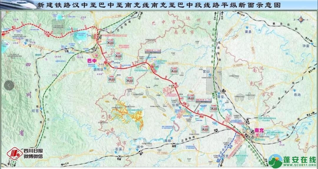 汉巴南铁路蓬安县车站设睦坝乡西北1km处,11月底全线开工建设 - 第1张  | 蓬安在线