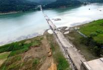 蓬安嘉陵江一桥成功爆破拆除
