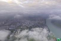 蓬安晨雾似云海