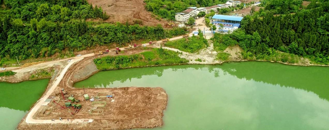 蓬安嘉陵江一桥修建进(2019年5月11日)
