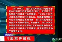 蓬安县纪委监委通报5起违纪违法案例