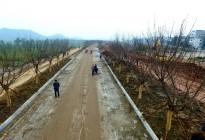 蓬安锦屏湿地公园嘉陵江跑道建设进度