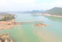 蓬安嘉陵江一桥施工进展