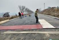 蓬安锦屏湿地公园漫步跑道修建进度(2019年1月13日)