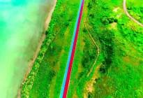 蓬安锦屏湿地公园双色跑道