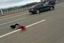 蓬安凤凰大桥突发车祸,一位女环卫工人被撞身亡