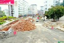 蓬安建设南路老旧街道小区美化改造(2020.3.22)