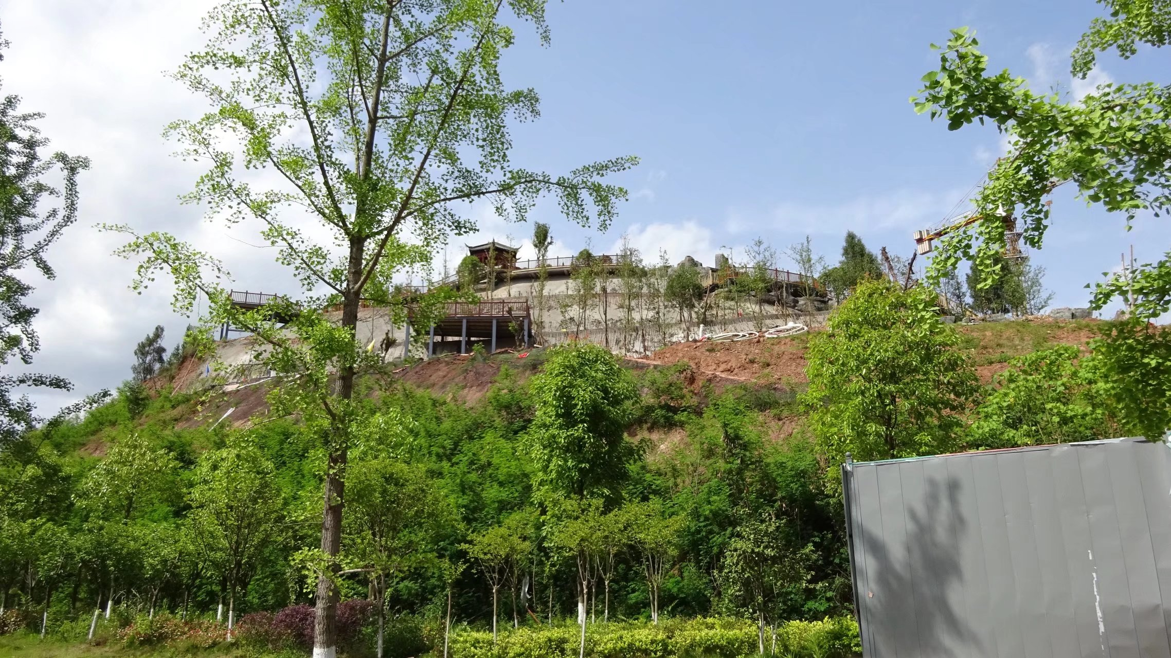 蓬安桑梓火锅公园施工进度(2018-05-10) - 第3张    蓬安在线