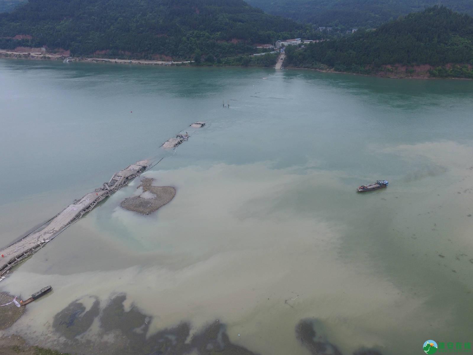 蓬安嘉陵江一桥成功爆破拆除 - 第3张  | 蓬安在线