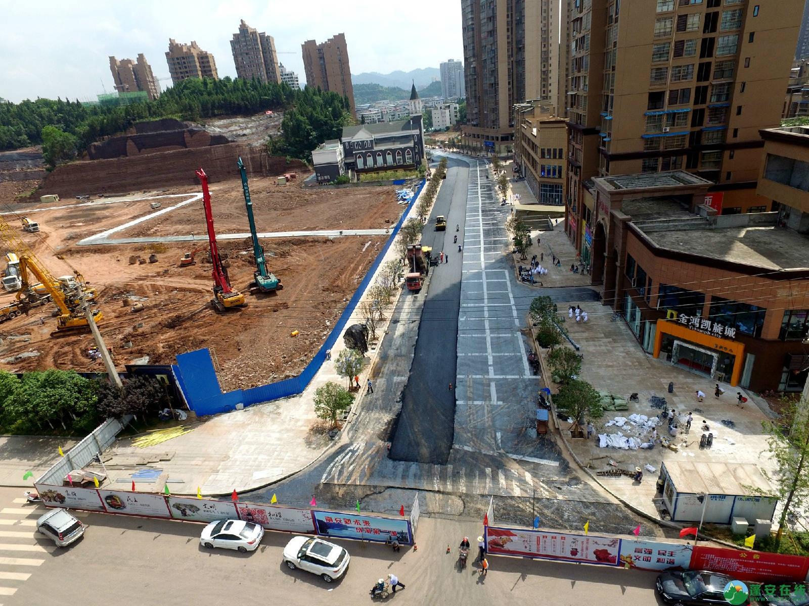 蓬安县旅游环线凤凰大道入口道路最新进展(2018年6月2日) - 第5张    蓬安在线