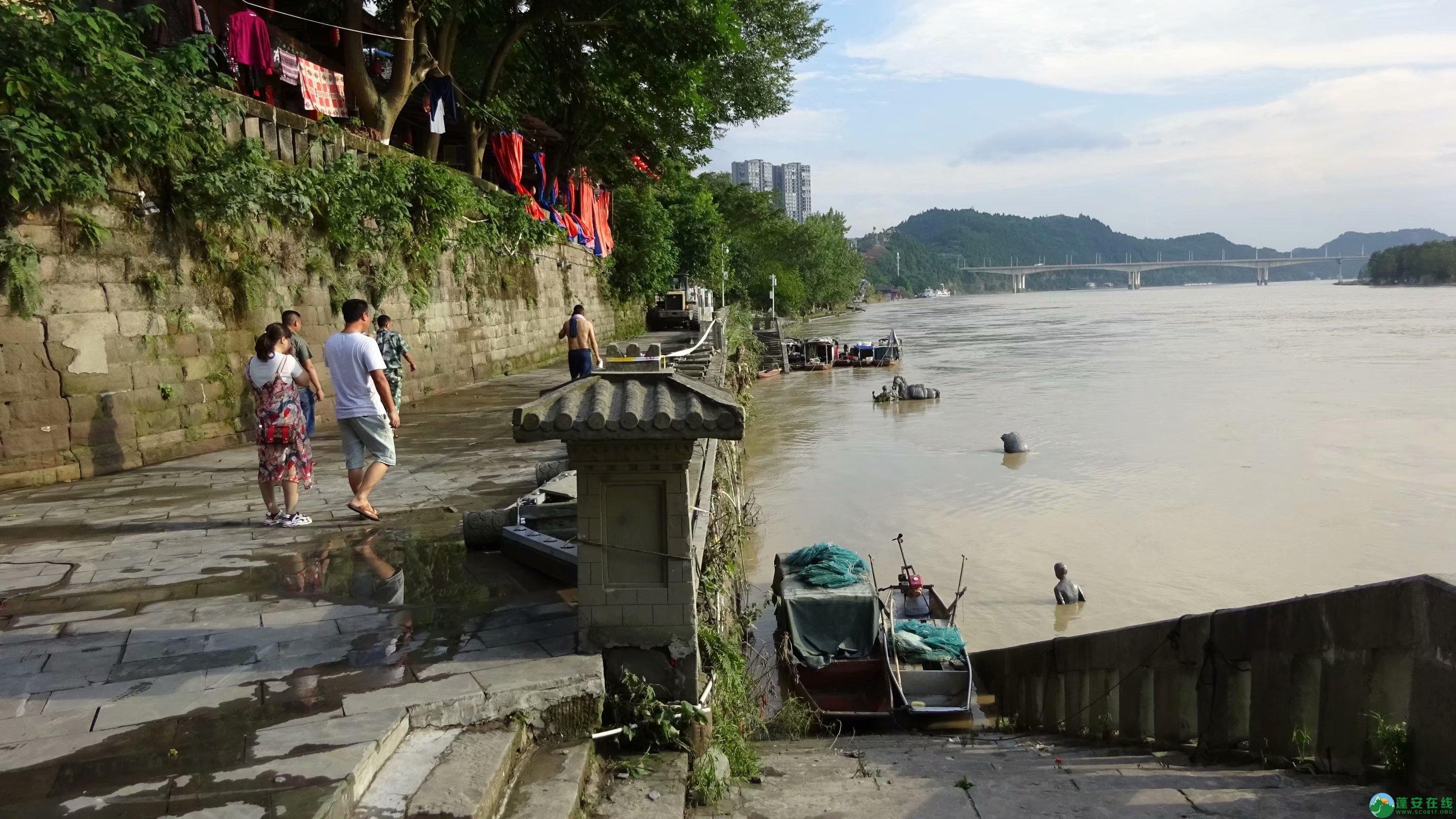 洪水退去后的蓬安县嘉陵江 - 第1张  | 蓬安在线