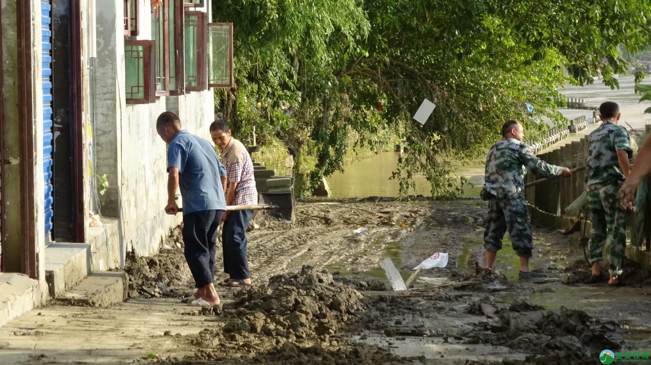 洪水退去后的蓬安县嘉陵江 - 第7张  | 蓬安在线