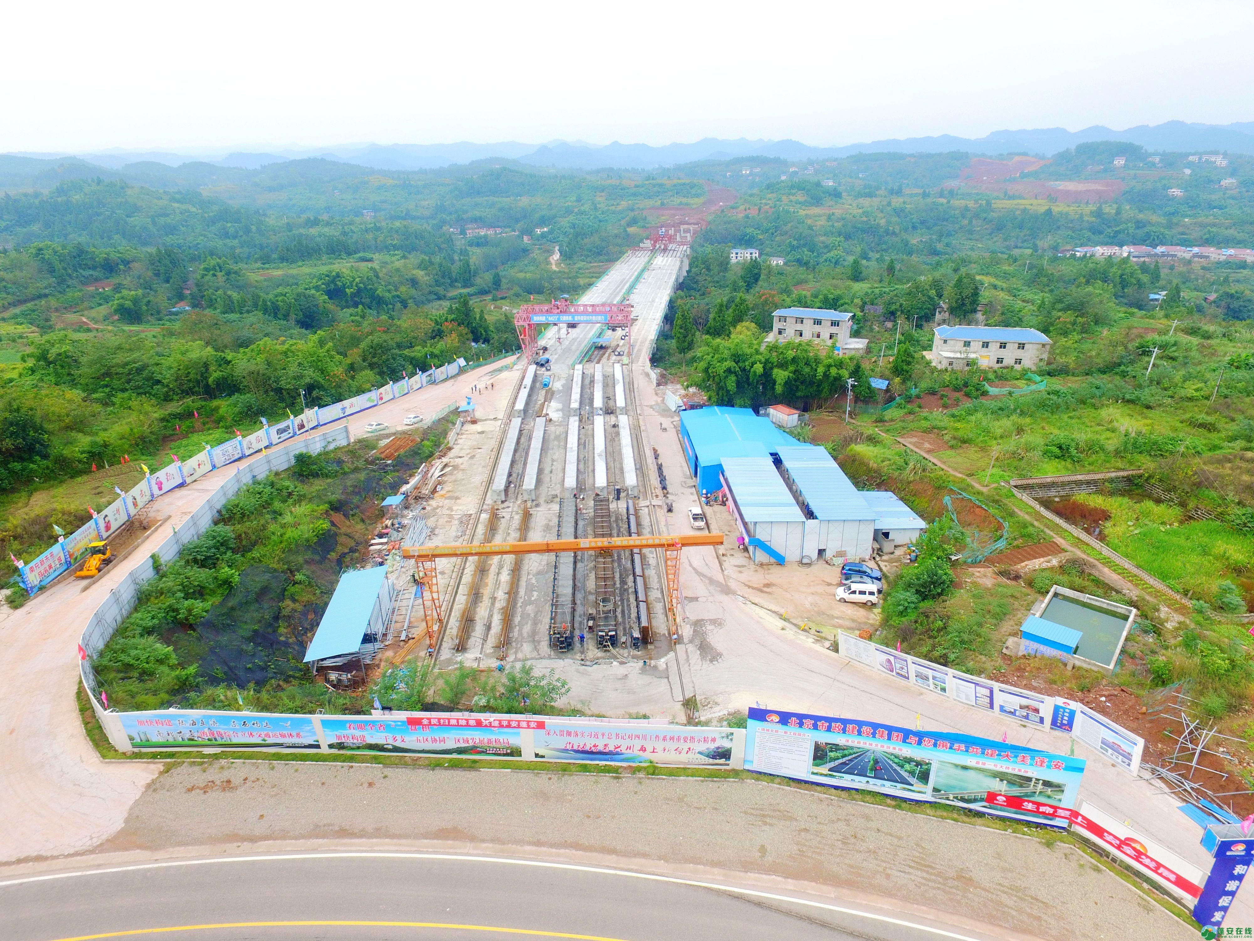 蓬安县绕城北路锦屏段、城东路段最新进展(2018年10月14日) - 第2张  | 蓬安在线