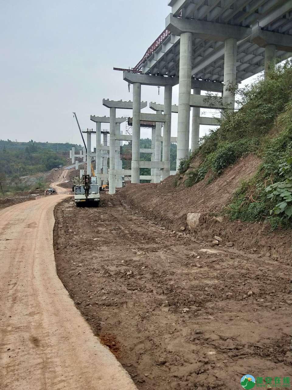 蓬安县绕城北路锦屏段、城东路段最新进展(2018年10月14日) - 第4张  | 蓬安在线