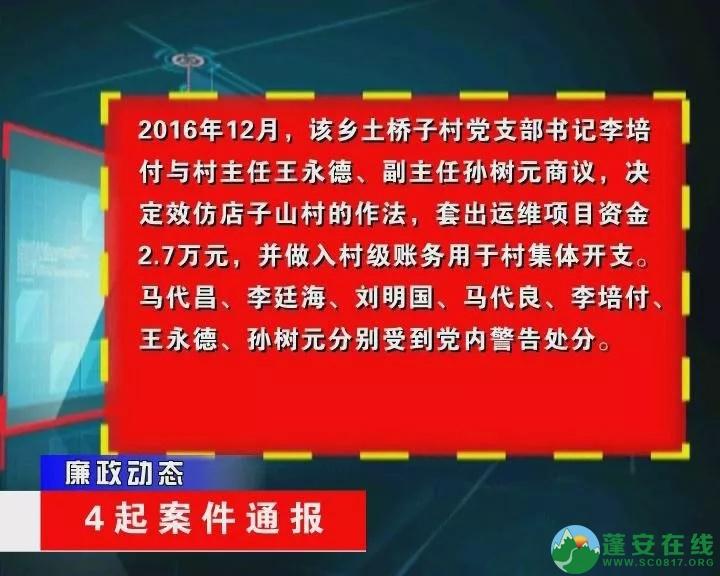 蓬安县金甲乡、新河乡、群乐乡乡领导违纪案件通报 - 第6张  | 蓬安在线